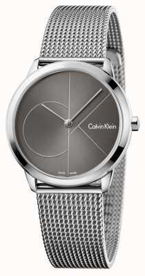 Calvin Klein Womans minimal zegarek szary wybierania K3M22123