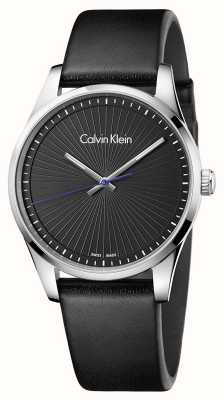 Calvin Klein Męski wytrwały zegarek czarny K8S211C1