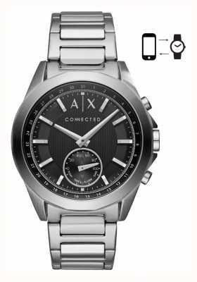 Armani Exchange Bransoletka męska ze stali nierdzewnej, czarna bransoletka ze stali nierdzewnej AXT1006