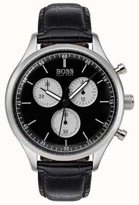 Boss Męski zegarek chronograf czarny 1513543