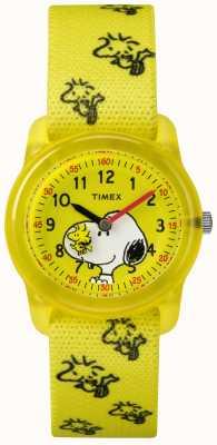 Timex Młodzieżowy analogowy żółty pasek snoopy woodstock TW2R41500JE