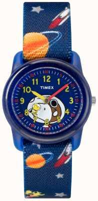 Timex Młodzieżowy analogowy niebieski pasek snoopy w przestrzeni kosmicznej TW2R41800JE