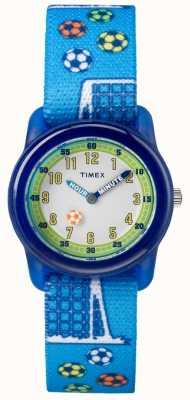 Timex Młodzieżowy analogowy niebieski pasek do piłki nożnej TW7C165004E