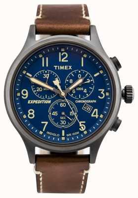 Timex Brązowy pasek zegarka ekspedycyjnego z harcerem TW4B09000D