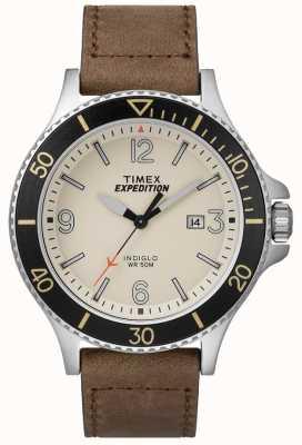 Timex Skórzany pasek wyprawy ranger tan naturalna tarcza TW4B10600D7PF