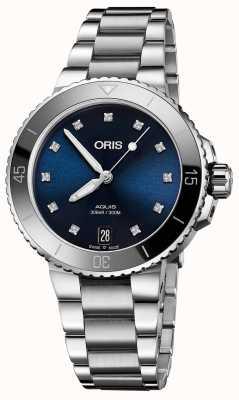 Oris Zestaw zegarków ze stali damskiej z diamentem 01 733 7731 4195-07 8 18 05P