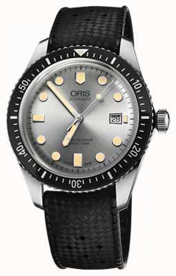 Oris Męscy nurkowie sześćdziesiąt pięć gumowy pasek zegarka 01 733 7720 4051-07 4 21 18