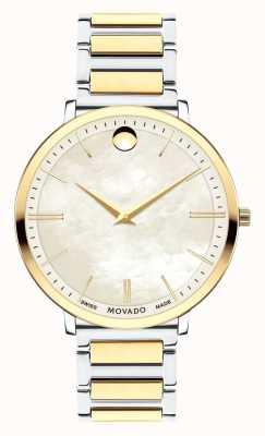 Movado Damski ultralekki dwukolorowy zegarek 0607171