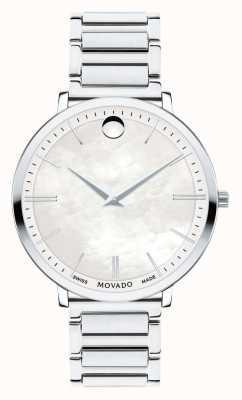 Movado Damski ultra cienki zegarek ze stali nierdzewnej 0607170