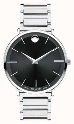 Movado Męski ultra cienki zegarek ze stali nierdzewnej 0607167