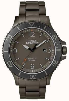 Timex Męska wyprawa ranger gun metalowa bransoletka szara tarcza TW4B10800