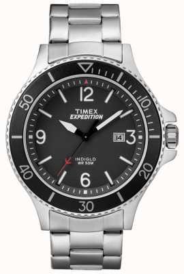 Timex Męska wyprawa ranger metalowa bransoletka czarna tarcza TW4B10900