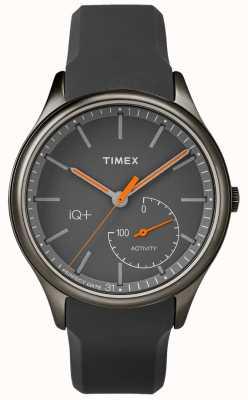 Timex Mens iq plus przenoszą szary silikonowy pasek TW2P95000
