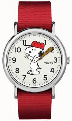 Timex Zegarek snoopy z czerwonym paskiem TW2R414006B