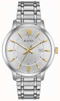 Bulova Męski klasyczny zegarek ze stali nierdzewnej 98B306