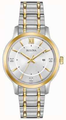 Bulova Klasyczny damski zegarek ze stali nierdzewnej 98P175