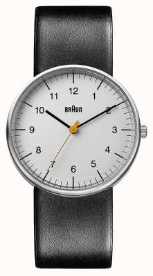 Braun Unisex zegarek z czarnej skóry BN0021BKG