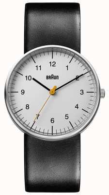 Braun Minimalistyczny zegarek unisex z czarnej skóry BN0021BKG
