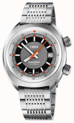 Oris Zegarek z datownikiem z szarej tarczy ze stali szlachetnej 01 733 7737 4053-07 8 19 01