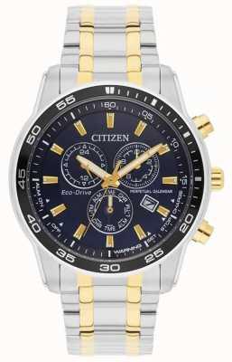 Citizen Mężczyźni | eco-drive | Zegarek ze stali nierdzewnej i złota IP z czarną tarczą BL5514-53L