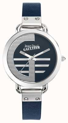 Jean Paul Gaultier Womens index g niebieski skórzany pasek niebieska tarcza JP8504324