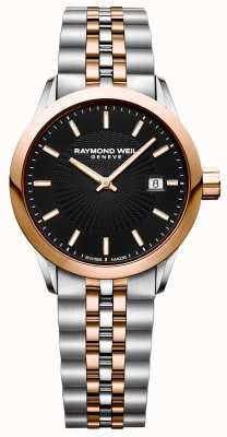 Raymond Weil Damski zegarek freelancer z dwoma mechanizmami kwarcowymi 5629-SP5-20021