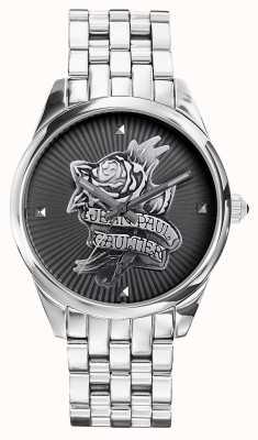 Jean Paul Gaultier Granatowa tatoo ze stali nierdzewnej bransoletka czarna tarcza JP8502407