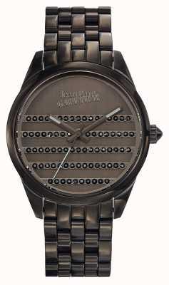 Jean Paul Gaultier Granatowa metalowa bransoletka i tarcza JP8502406