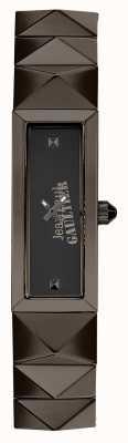 Jean Paul Gaultier Damska mini-punk-gun metalowa bransoleta czarna tarcza JP8504003