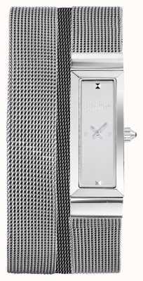 Jean Paul Gaultier Damska bransoletka z siatki ze stali nierdzewnej JP8503901