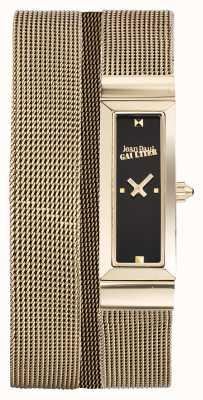 Jean Paul Gaultier Damska bransoletka z czarnej siatki cote de maille JP8503903