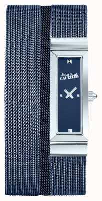 Jean Paul Gaultier Kobiet cote de maille niebieski pvd siatki bransoletka niebieski wybierania JP8503904
