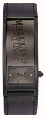 Jean Paul Gaultier Identity szary skórzany pasek szara tarcza JP8503703
