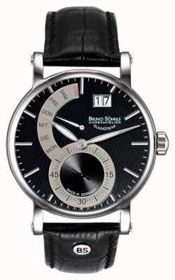 Bruno Sohnle Skórzany zegarek Pesaro ii 43mm 17-13073-781