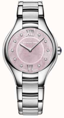 Raymond Weil Womans noemia diamentowy zegarek z masy perłowej 5132-ST-00986