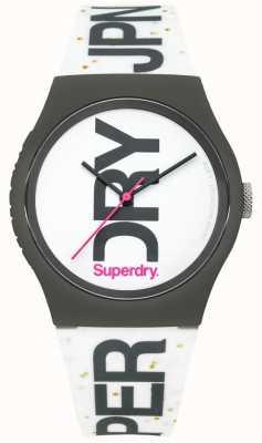 Superdry Unisex zegarek z białego silikonu SYL189WB