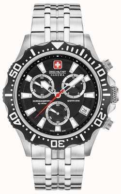 Swiss Military Hanowa Męski chronograf czarny matowy chronograf 06-5305.04.007