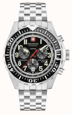 Swiss Military Hanowa Męski chronograf czarny touchdown 06-5304.04.007