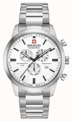 Swiss Military Hanowa Męski zegar ze stali nierdzewnej z chronografem 06-5308.04.001