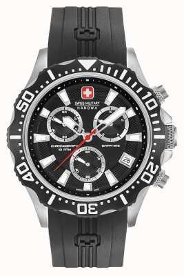Swiss Military Hanowa Męski chronograf czarny matowy chronograf 06-4305.04.007