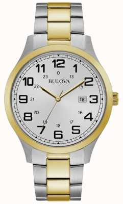 Bulova Męski zegarek na ramieniu z dwukolorową bransoletą ze stali szlachetnej 98B304