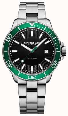 Raymond Weil Tango zielony zegarek ze stali nierdzewnej 8260-ST7-20001