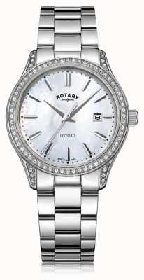 Rotary Damski zegarek kwarcowy ze stali nierdzewnej w kolorze białym oxford LB05092/41