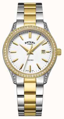 Rotary Damski dwukolorowy zegarek kwarcowy ze stali nierdzewnej LB05093/02