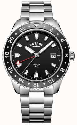Rotary Męski czarny zegarek kwarcowy ze stali nierdzewnej GB05108/04
