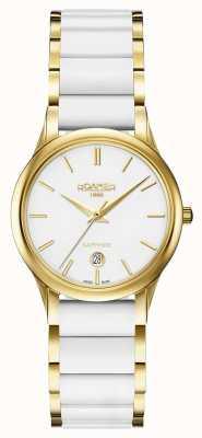 Roamer Damski zegarek z białej, ceramicznej koperty w kolorze c-line 657844482560