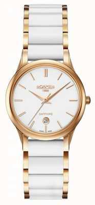 Roamer Damski zegarek typu c-line z białej, białej, ceramicznej koperty 657844492560