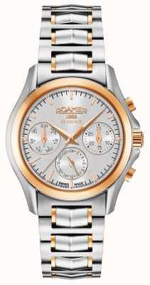 Roamer Damski zegarek z chronografem w kolorze srebrnym i różowym 203901491520