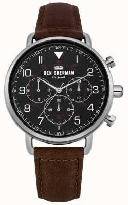 Ben Sherman Męski wojskowy zegarek chronograf z portobello WB068BBR