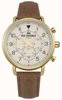Ben Sherman Męski wojskowy zegarek chronograf z portobello WB068WT